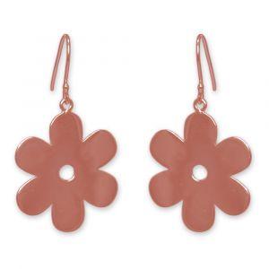 Anemone Flower Earrings - Rose Gold