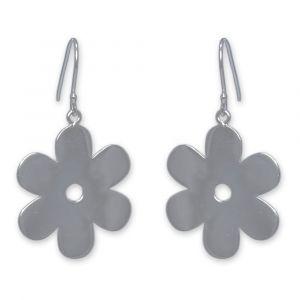 Anemone Flower Earrings - Sterling Silver