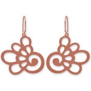 Hydrangea Flower Earrings - Rose Gold