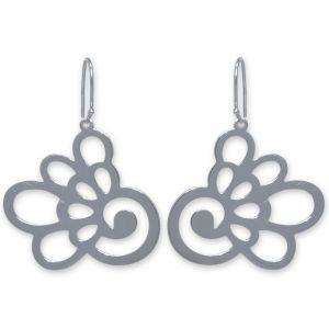 Hydrangea Flower Earrings - Sterling Silver