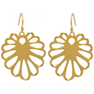 Aloe Flower Earrings - Yellow Gold