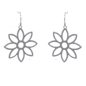 Namaqua Daisy Flower Earrings - Sterling Silver