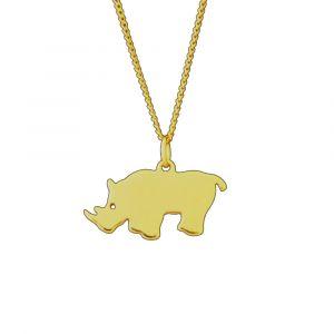 Rhino Necklace - Yellow Gold