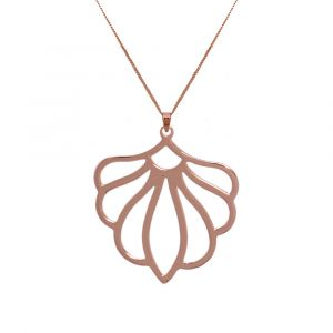 Peony Flower Necklace - Rose Gold