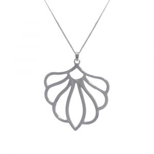 Peony Flower Necklace - Sterling Silver
