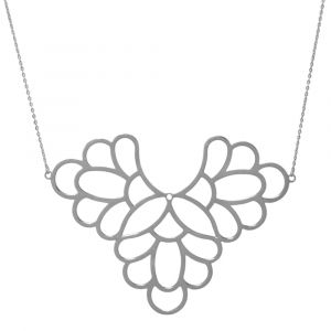 Freesia Flower Big Necklace - Sterling Silver