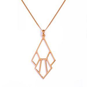 Tiger Lily Flower Necklace - Rose Gold