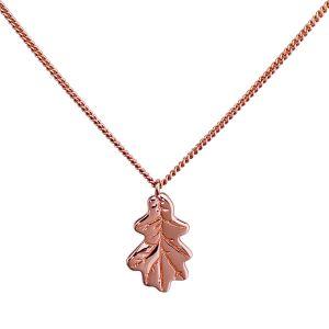 Rose Gold Oak Leaf Necklace