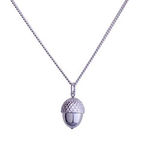 Acorn Necklace - Sterling Silver