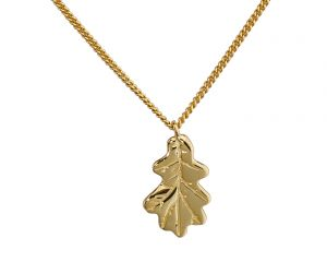 Oak Leaf Necklace - Yellow Gold