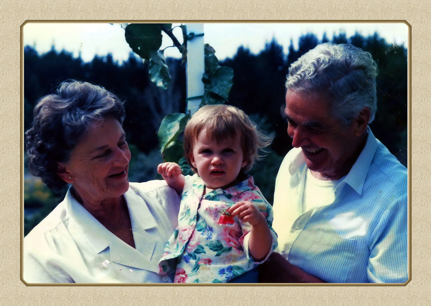 Shannon with her Grandparents