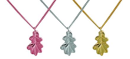 A selection of Oak Leaf Necklaces