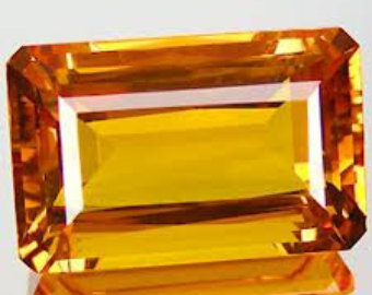 Emerald cut Citrine Gemstone