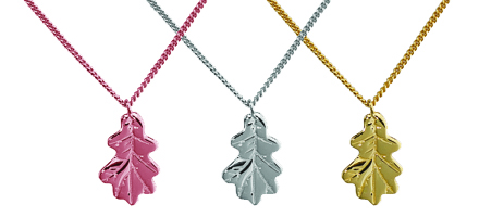 A selection of Oak Leaf Necklaces