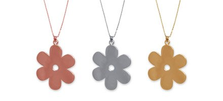 A selection of Solid Daisy Necklaces